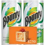 Bounty Paper Towels and $250 Home Depot Gift Card Giveaway