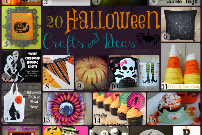 Collection of 20 Halloween Crafts and Ideas!