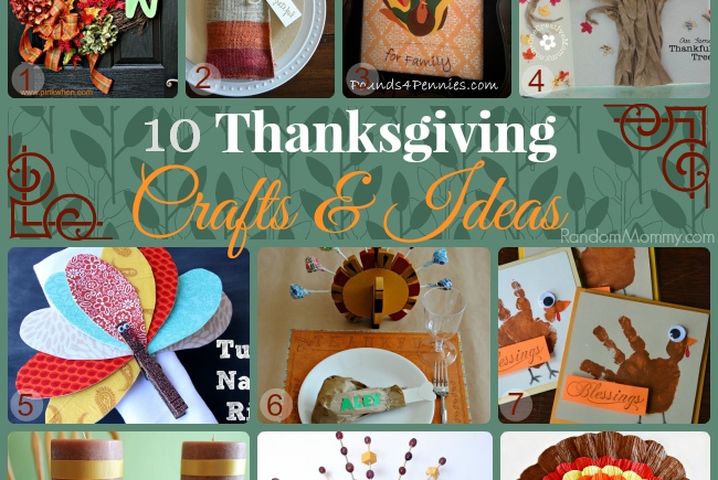 Collection of 10 Thanksgiving Crafts and Ideas