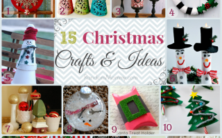 Fifteen Christmas Crafts and Ideas