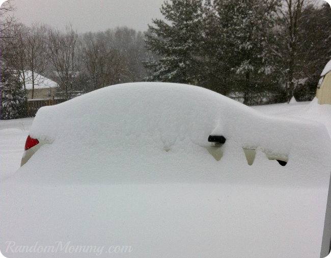 Car Covered In Snow : Dude where s my car