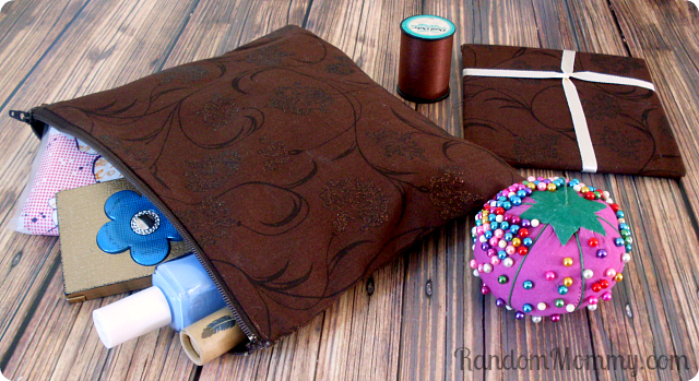 Zipper pouch sewing project