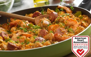 louisiana style chicken sausage shrimp skillet