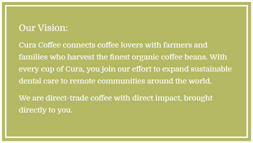 Cura Coffee vision