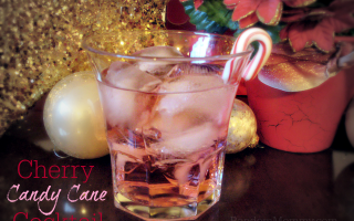 Cherry Candy Cane Cocktail