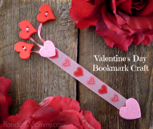 Valentines Day Bookmark Craft