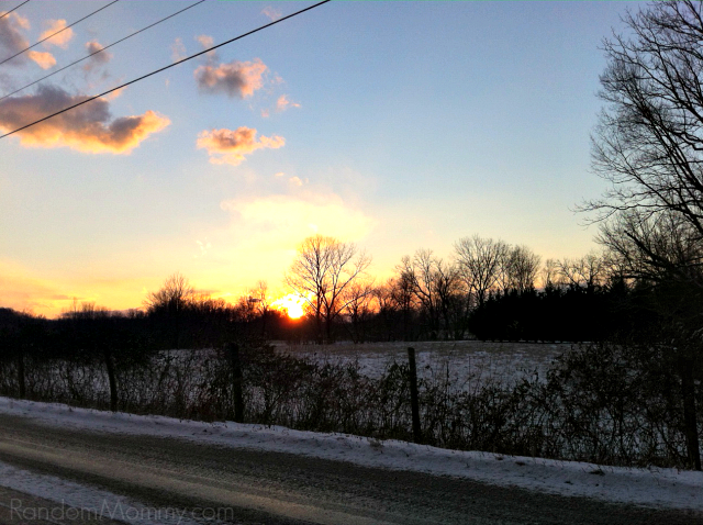 snow sunset 1