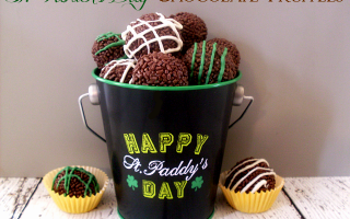 st patricks day chocolate truffles