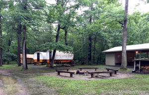 Camping in Covered Wagons