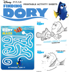 Finding Dory – Free Printable Activity Sheets! #FindingDory #HaveYouSeenHer