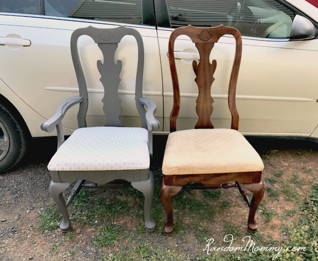 chalk paint dining room chairs
